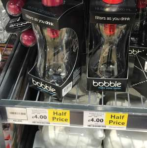 Bobble water filter bottle £4 instore @ Tesco