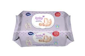 Hops Baby Pure Fragranced Or Unfragranced Wipes, 120 Pack, £1 In Poundland In Store