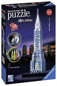£7 prime, £23.99 non prime. Ravensburger Chrysler Building - Night Edition, 216pc 3D Jigsaw Puzzle