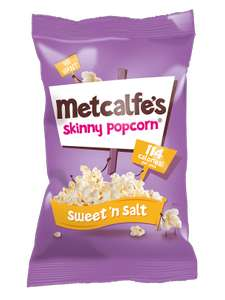 Metcalfe's Skinny Topcorn Popcorn - Sweet 'n Salt - brand match brings this down to £1 per pack and checkoutsmart takes another 50p off @ Tesco
