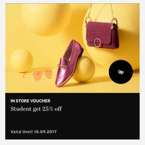 25% off H&M instore today only with student voucher from H&M Club (10.09.2017)