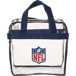 NFL London - clear bag policy.  You WILL be refused entry with anything but a clear bag at both venues Bag £5 + £4.95 Del (C+C from Stadium for free)