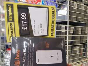 Hive active plug £17.99 @ Clearance bargains Corby