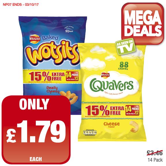 Wotsits/Quavers 14 pack £1.79 @ Premier Stores
