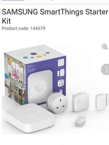Samsung SmartThing starter kit was £199 now £154 if new customer discount code llw46 brings it down to £128.98  @ very...