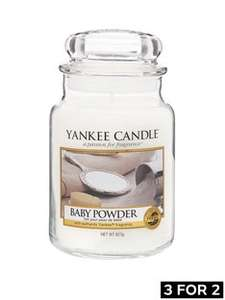 Yankee Candle selected large jars from £14.39 AND 3 for 2 at Very