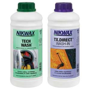 Nikwax Tech Wash & TX Direct Wash-In Waterproofing 2x1 Litre - £15 @ Tesco