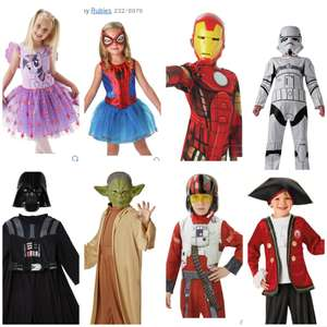 Fancy dress outfits for 5-6 yr olds only at Argos £7.99 each -Storm trooper, Darth Vader, Poe Dameron, Yoda,  Spidergirl, and Iron Man @ Argos