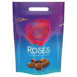Mix and match pouches celebrations quality street roses terrys chocolate orange 3 for £10 at Morrisons