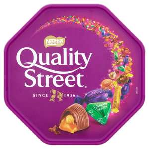 Xmas tubs celebration quality street roses 2 for £8 in morrisons