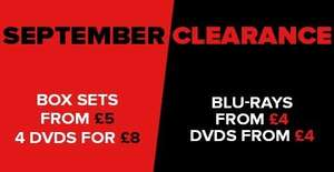September Clearance / Blu Rays from £2.70 (with code) - Zoom.co.uk
