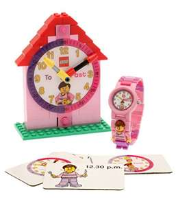 LEGO Time Teacher Pink Kids Minifigure Link Buildable Watch, Constructible Clock and Activity Cards now £20 delivered @ Amazon