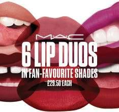 Mac Lip duos in new shades with free sample and free delivery now £29.50 @ Mac Cosmetics