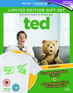 Ted on Blu-ray including Thunder Buddies T-Shirt at Zoom.co.uk £4.50