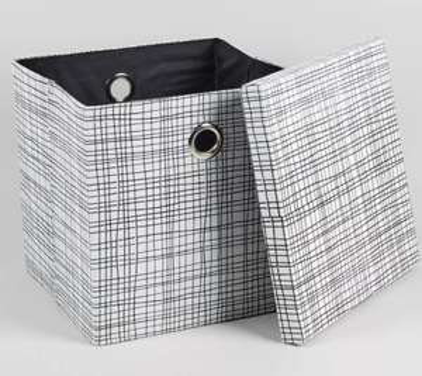 Black & white 50s style storage box - perfect size for vinyl LPs £7 - Matalan - Free c&c