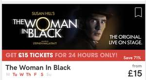 Woman in Black £15 stalls tickets 24 hours only! @ Today tix