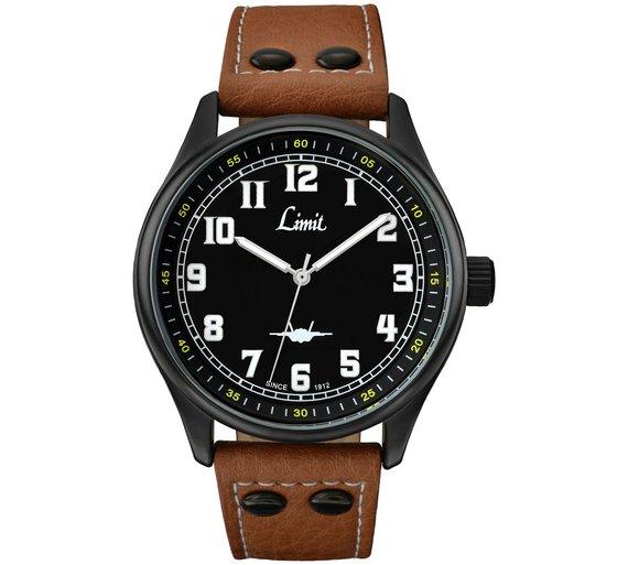 Limit Men's Tan Pilot Style Strap Watch (Was £19.99) Now only £14.99 @ Argos