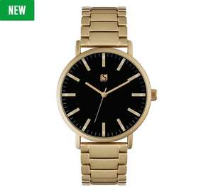 Spirit Men's Black Dial Gold Colour Bracelet Watch £9.99 @ Argos