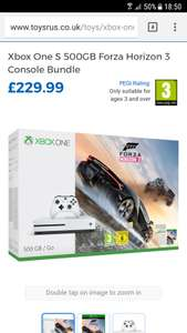 Xbox one s forza & Destiny 2 deal £199.99 @ Toys R Us