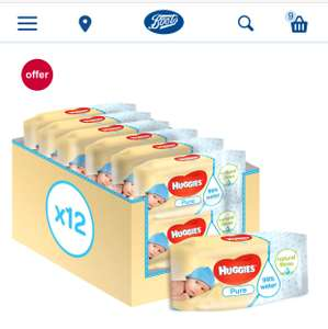 Today Only - 37p per pack - 0.66p per Huggies Wipe - @ boots