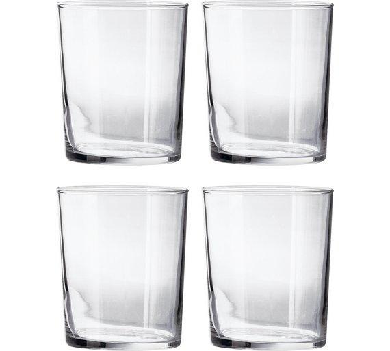 Set of 4 Glassware Tumbler Glasses £2.19 @ Argos (C&C)