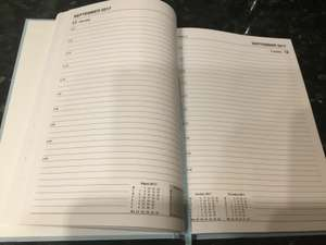 Good quality A5 (1 day per page) academic diary August 2017 - July 2018 £1 at Poundland