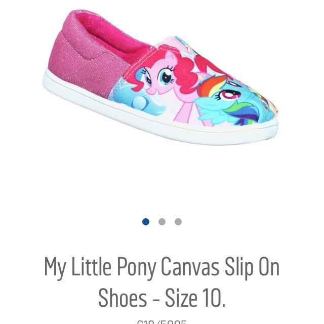 My little Pony canvas shoes - £3.99 @ Argos (C&C)