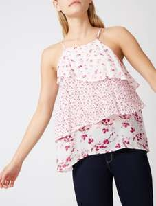 Frill Tiered Floral Top for £5 @ George (Free C&C)