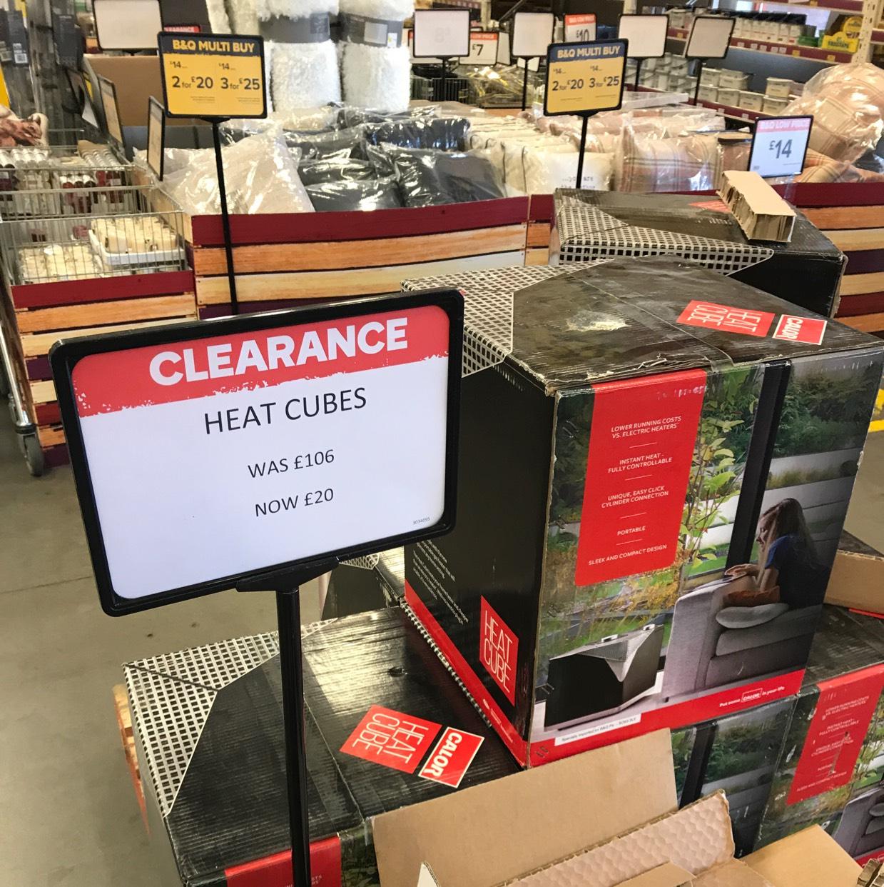 Calor heat cube (gas heater) £20 B&Q instore
