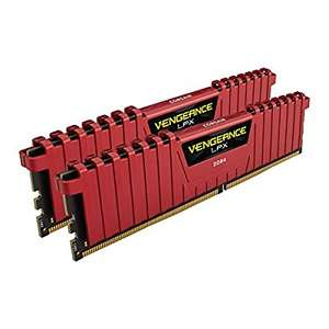 Corsair Vengeance LPX 16GB (2x8GB) DDR4 2400Mhz RAM Desktop Memory Kit, Red £99.20 Del @ Amazon