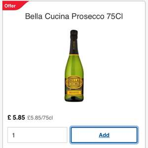 Tesco Prosecco - £26.28 for 6 bottles.