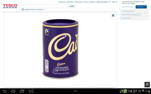 Cadburys hot chocolate 500g £2.00 in tesco from 13th september
