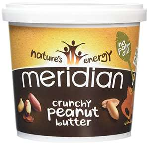 Meridian Natural Crunchy Peanut Butter With No Added Salt 1 kg - Pack of 2 £10.98 delivered prime / £15.73 non prime @ Amazon