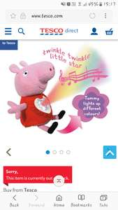 Peppa pig lullaby Peppa. £12.50 in store Tesco litherland. OOS online