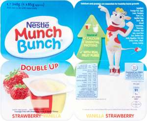 Nestle Munch Bunch Mega Double Up Layered Fromage Frais - Strawberry & Vanilla (4 x 85g) was £1.70 now 85p @ Iceland