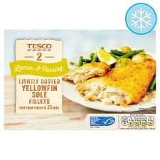Yellow Fin Sole (80%) Lemon and Parsley (2 = 250g) ONLY £2.50 @ Tesco