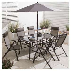 roma metal garden furniture set 8 piece from tesco down from 180 to