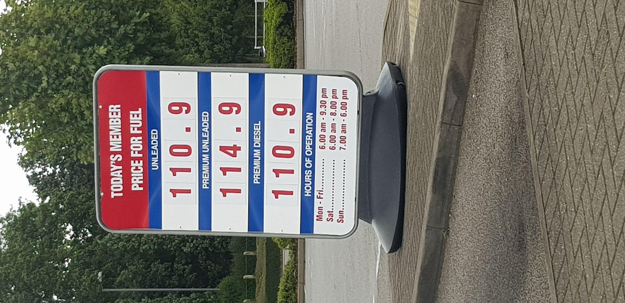 Costco Petrol & Diesel £1.11