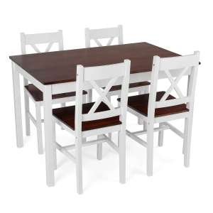 Christow White Pine Dining Table & Chairs Set - £129.99 @ This Is It