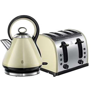 Amazon deal of the day Russell Hobbs Legacy 4 Slice Toaster and Russell Hobbs Legacy Kettle - Cream £47.99 @ amazon
