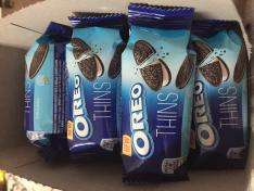 Oreo thins biscuits 8 pack 25p each or 5 packs for £1 in Heron Foods