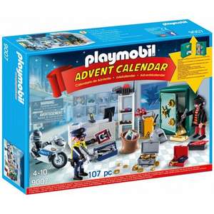 Playmobil Jewel Thief Police Operation / Playmobil 'Royal Ice Skating Trip' / Playmobil 123 Christmas on the Farm Advent Calendars £14 each C+C @ Asda