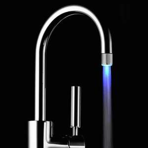 Blue Water Stream LED Faucet Light for Bathroom Kitchen 76p delivered with code @ Gearbest