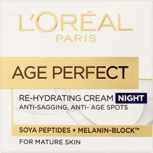 L'Oreal Paris Age Perfect Rehydrating Day Cream (50ml) Half Price Was £11.00 Now £5.50 @ Tesco