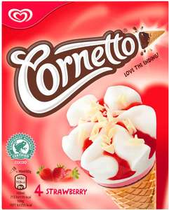 Cornetto Classico or Strawberry Ice Cream Cones (4 x 90ml) was £2.00 now £1.00 @ Waitrose