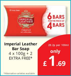 Imperial Leather Soap 6 for £1.69 at Savers