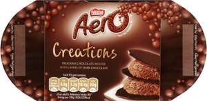 Nestlé Aero Creations (4 x 57g) / ​Aero Milk Chocolate Bubbly Dessert (4 x 59g) was £1.45 now 72p @ Waitrose