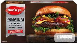 Birds Eye Premium Beef Quarter Pounders (4 per pack - 454g) was £3.00 now £2.00 @ Iceland