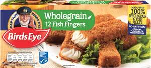 Birds Eye Wholegrain Fish Fingers (Frozen) (12 = 360g) was £2.50 now £1.25 @ Waitrose