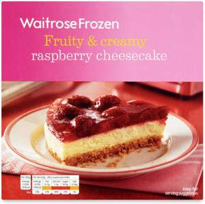 Waitrose Frozen Milk Chocolate Cheesecake (480g) was £3.79 now £1.89 @ Waitrose